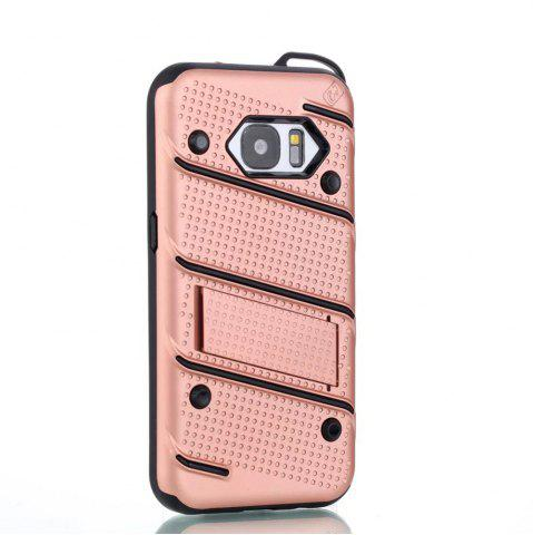 Hot Wkae Ultra Thin Dual Layer PC Soft TPU Back Protective Cover Case with Kickstand for Samsung Galaxy S7