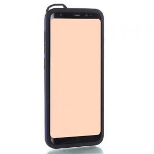 Wkae Slim Dual Layer PC Soft TPU Back Cover Case with Kickstand for Samsung Galaxy S8 -