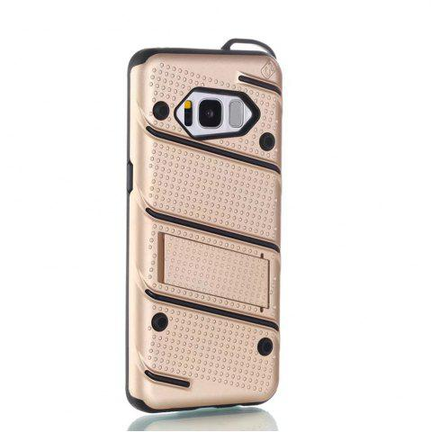 Sale Wkae Slim Dual Layer PC Soft TPU Back Cover Case with Kickstand for Samsung Galaxy S8
