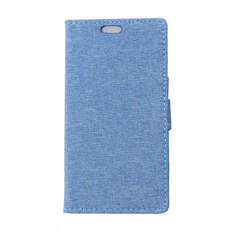 Fancy Wkae Retro Jeans Cloth Texture Folio Stand Case with Card Slots for Huawei Enjoy 7 / P9 Lite Mini