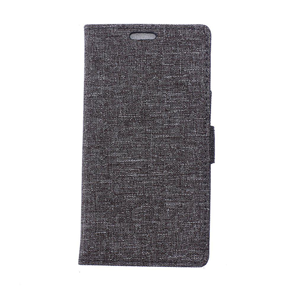 Best Wkae Retro Jeans Cloth Texture Folio Stand Case with Card Slots for Huawei Enjoy 7 / P9 Lite Mini
