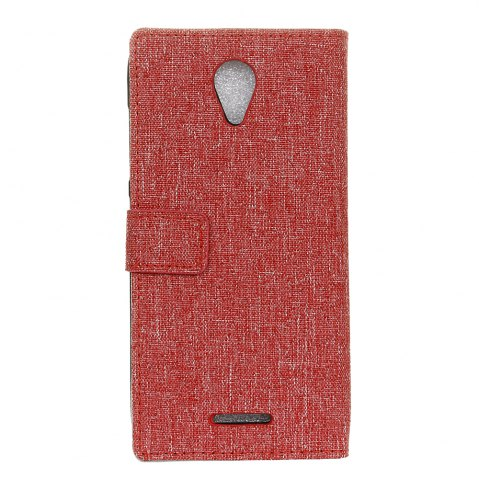Affordable Wkae Retro Jeans Cloth Texture Flip Stand Case with Card Slots for WIKO Tommy 2