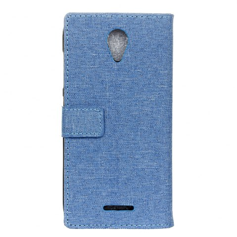 Fancy Wkae Retro Jeans Cloth Texture Flip Stand Case with Card Slots for WIKO Tommy 2
