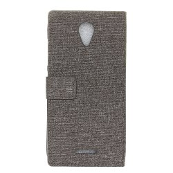 Wkae Retro Jeans Cloth Texture Flip Stand Case with Card Slots for WIKO Tommy 2 -