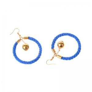 Original Design Cotton Knit Ring Earrings -