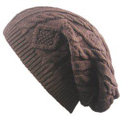 Winter Cap Small Twist Knitted Hats Europe and The United States Outdoor Men and Women Leisure Sets of Wool Hat - CAPPUCCINO