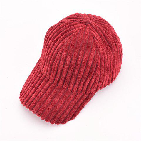Fashion Autumn and Winter Corduroy Baseball Cap Men and Women Fashion Cap Warm Fashion