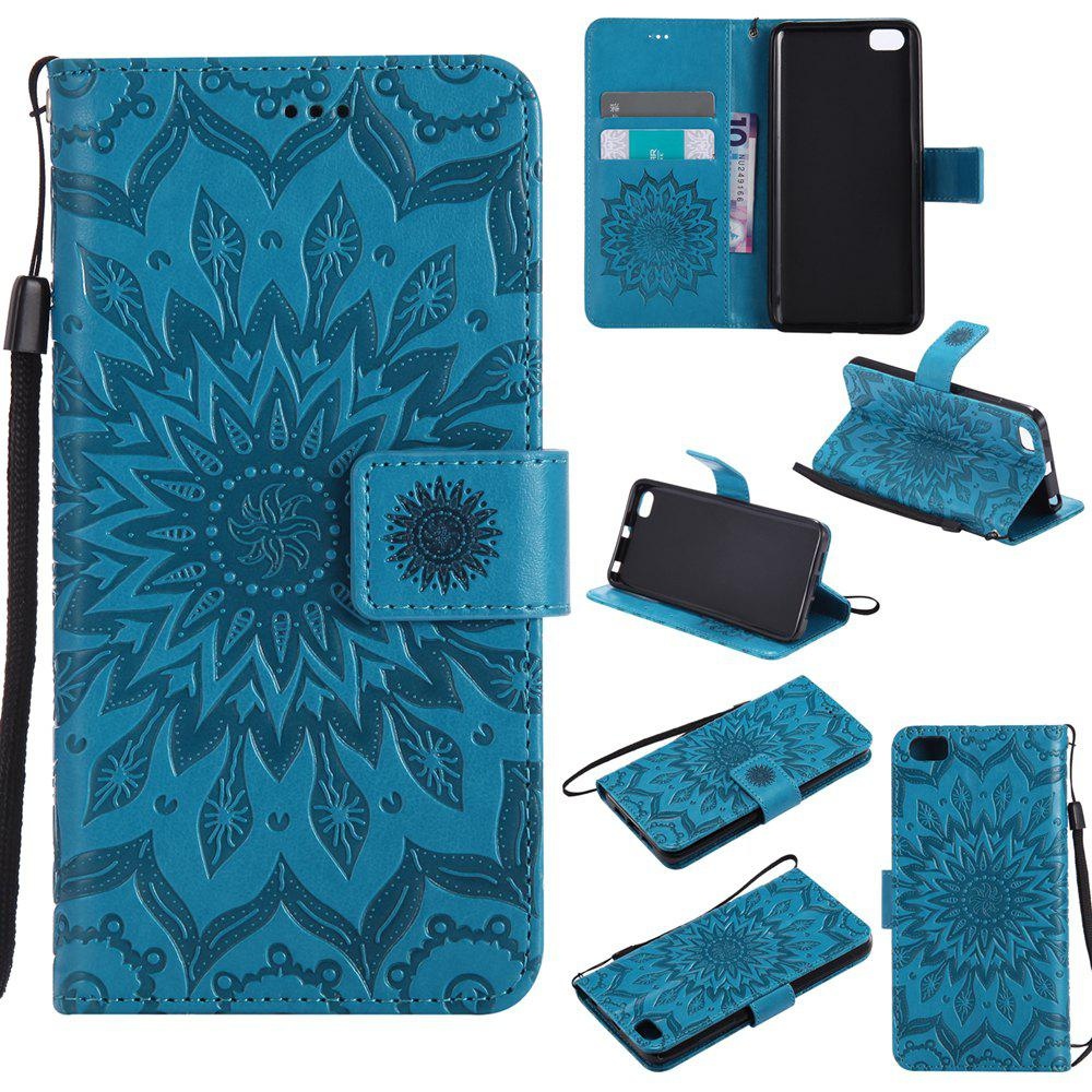 Sale Yanxn Sun Flower Printing Design Pu Leather Flip Wallet Lanyard Protective Case for Xiaomi Mi5