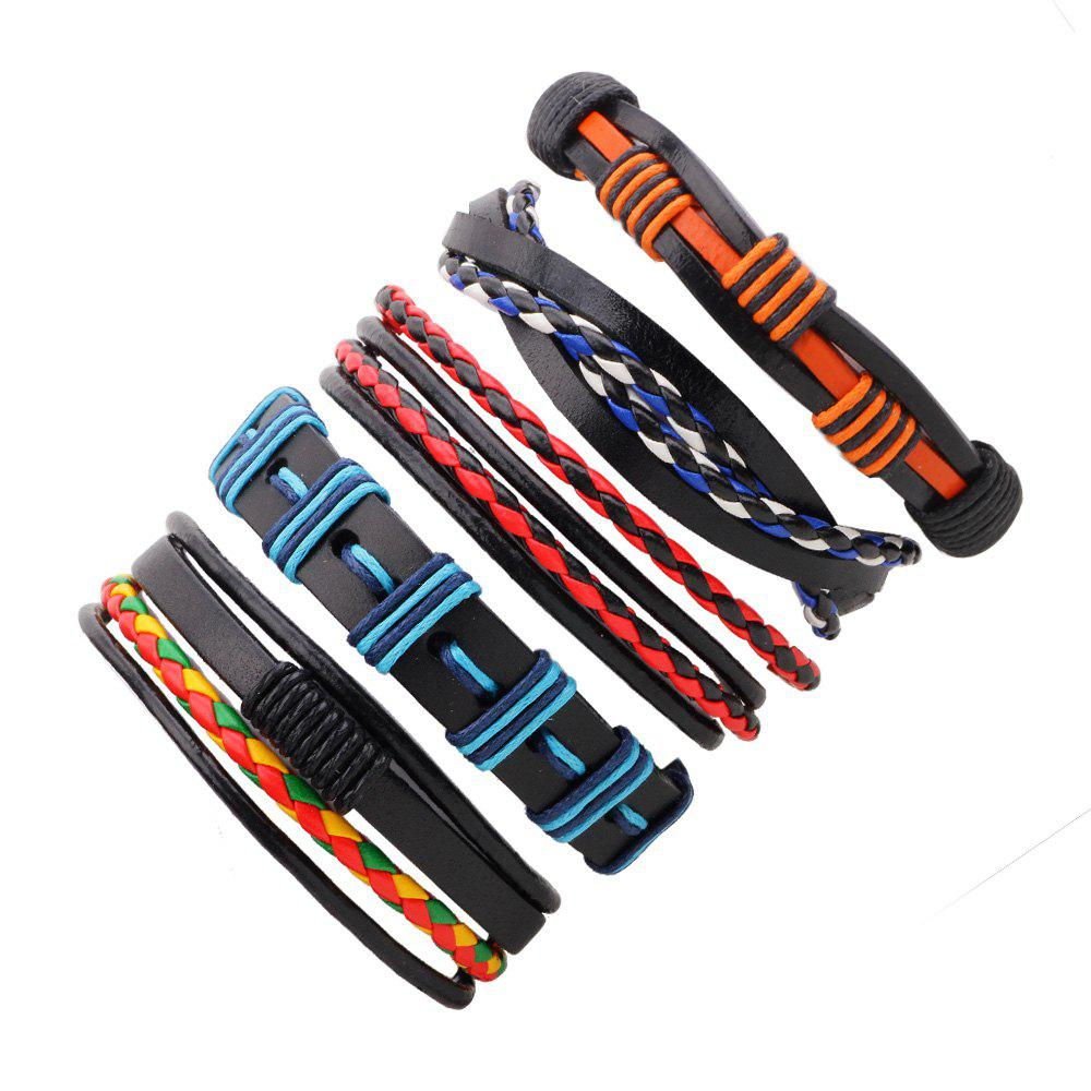 Shops 5 PCS Colorful Snake Hand Woven Leather Bracelet