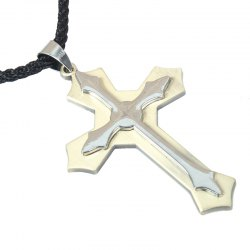 Korea Style Cross Pendant Necklace Male -