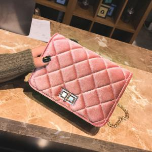 Fashion Casual Signature Pure plaid Shoulder Handbag Crossbodybagfor Women -