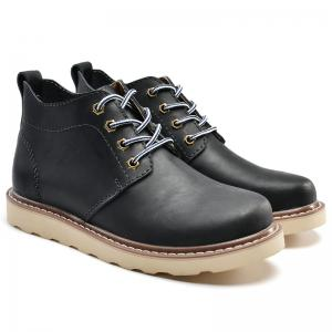 Outdoor Leisure Boots Fat Boots Thick Soled Shoes Outdoor Hiking Shoes Leather Boot -