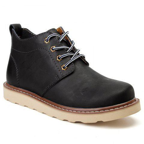 Outfits Outdoor Leisure Boots Fat Boots Thick Soled Shoes Outdoor Hiking Shoes Leather Boot