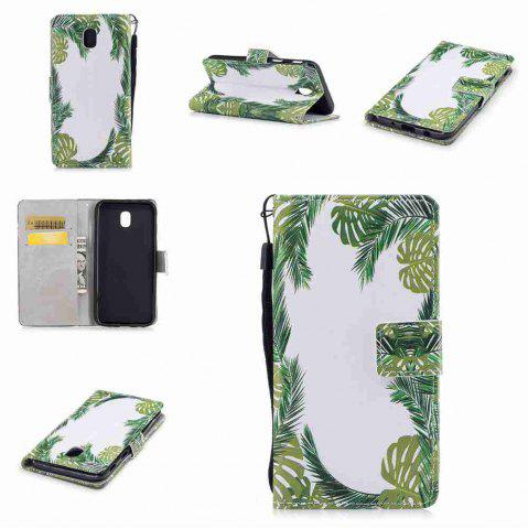 Outfit Classic Painted Pu Phone Case for Samsung Galaxy J730