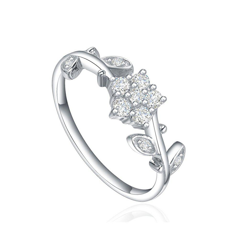 Online Starharvest 925 Sterling Silver Rings Signet Ring with Flower Shape for Female