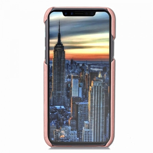 Mural Flower Embossed Back Cover with Card Slots for iPhone X -