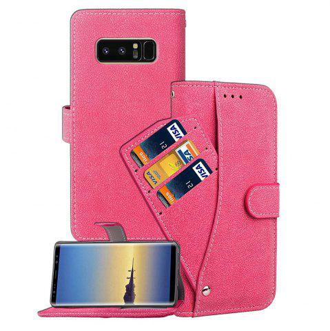 Latest Frosted Matte PU Leather Flip Stand Case with Wallet Function for Samsung Galaxy Note 8