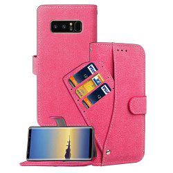 Frosted Matte PU Leather Flip Stand Case with Wallet Function for Samsung Galaxy Note 8 -