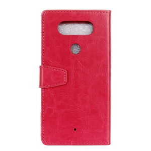 Wkae Crystal Grain Texture Synthetic Leather Stand Case with Kickstand and Card Slots for LG Q8 / V20 Mini -