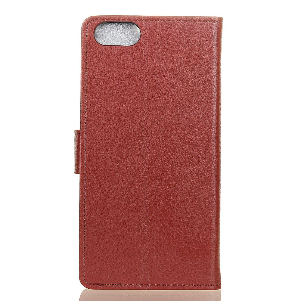 Hot Wkae Litchi Texture PU Leather Folio Stand Wallet Case Cover with Card Slots for Doogee MIX