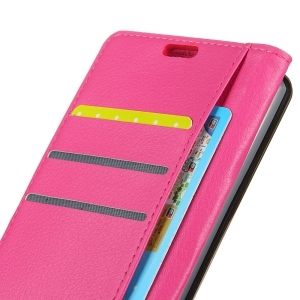 Wkae Litchi Texture PU Leather Folio Stand Wallet Case Cover with Card Slots for Google PIXEL 2 -