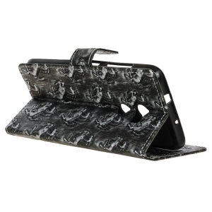 3D Texture Heavy Metal Style Flip PU Leather Wallet Case for HTC One X10 -