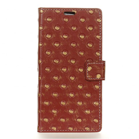 Sale 3D Texture Heavy Metal Style Flip PU Leather Wallet Case for HTC One X10