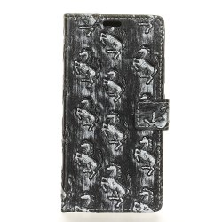 3D Texture Heavy Metal Style Flip PU Leather Wallet Case for Motorola Moto Z2 -