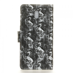 3D Texture Heavy Metal Style Flip PU Leather Wallet Case for Nokia 3 -
