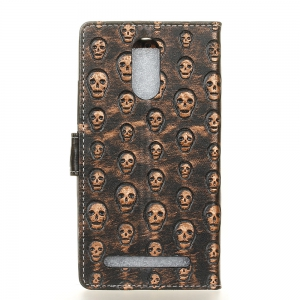 3D Texture Heavy Metal Style Flip PU Leather Wallet Case for Wiko Upulse -