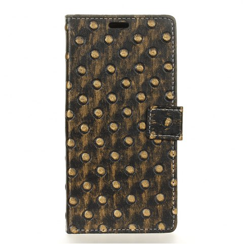 Chic 3D Texture Heavy Metal Style Flip PU Leather Wallet Case for Wiko Upulse