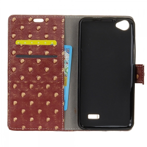 3D Texture Heavy Metal Style Flip PU Leather Wallet Case for Acer Liquid Z6E -