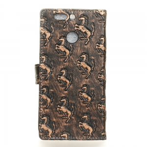 3D Texture Heavy Metal Style Flip PU Leather Wallet Case for Huawei Honor 8 Pro -