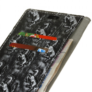 3D Texture Heavy Metal Style Flip PU Leather Wallet Case for Huawei Honor 9 -