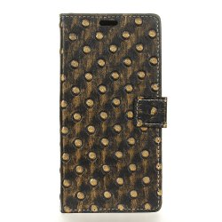 3D Texture Heavy Metal Style Flip PU Leather Wallet Case for ZTE Axon 7 Max -