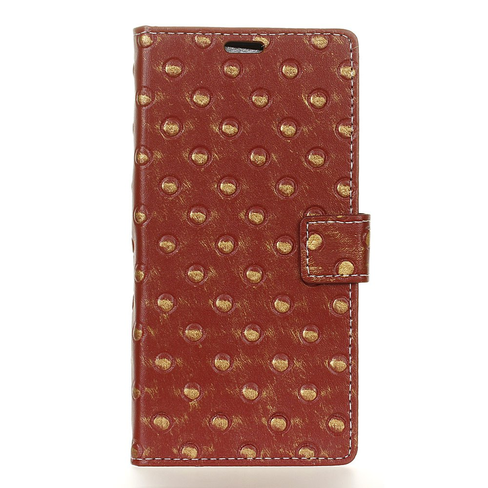 Outfits 3D Texture Heavy Metal Style Flip PU Leather Wallet Case for ZTE Axon 7 Max