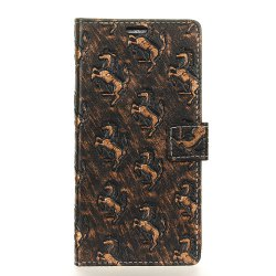 3D Texture Heavy Metal Style Flip PU Leather Wallet Case for ZTE Blade L6 -