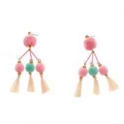 Original All-Match Earrings Handmade Beaded Tassels Maomao Personality -