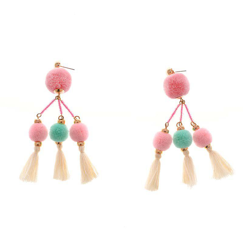 Cheap Original All-Match Earrings Handmade Beaded Tassels Maomao Personality