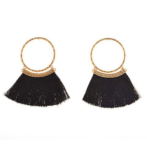 Shop Bohemia Wind Alloy Earrings Exaggerated Fan Tassel Earrings