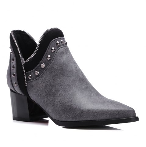 Fancy Women's Ankle Boots Chic Style Street Fashion Boots
