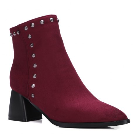 Trendy Women's Vogue Pointed Toe Rivet Ornament Casual Shoes