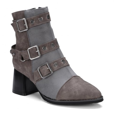 Sale Women's Ankle Boots Hasp Decor Boots