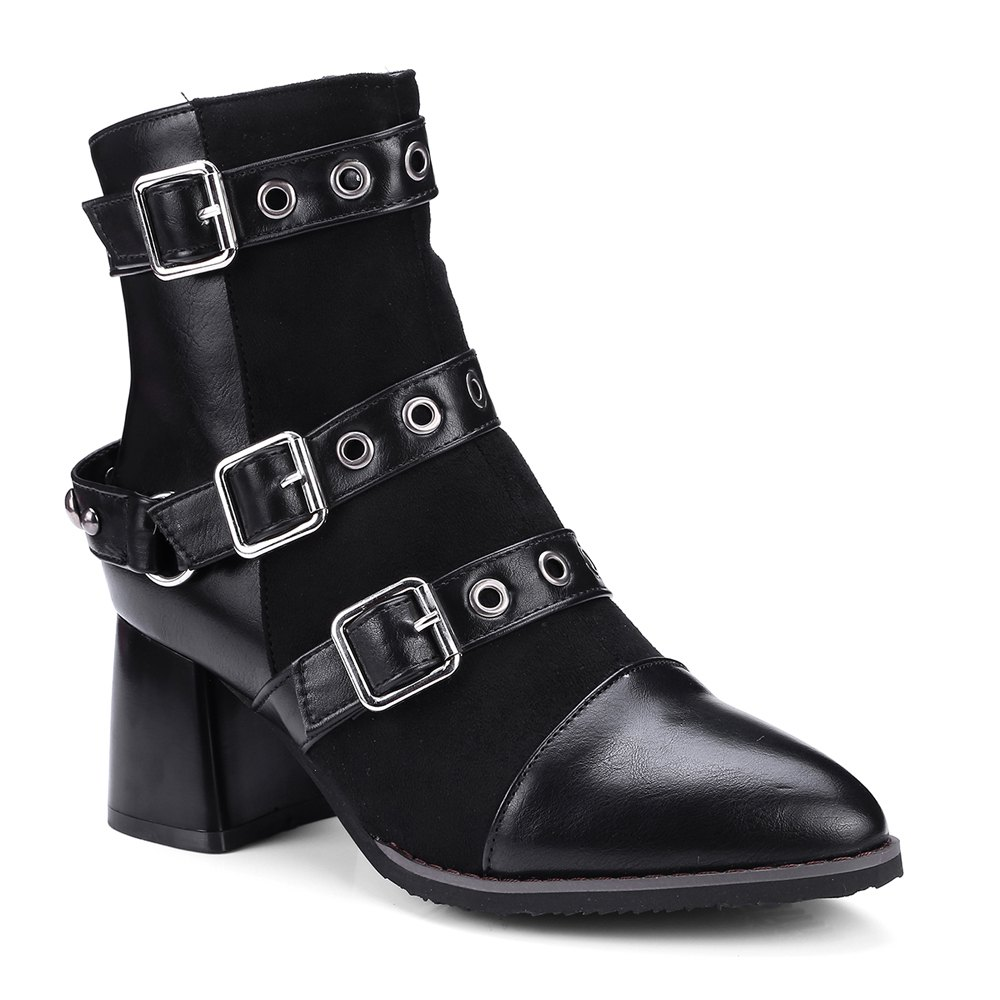 Latest Women's Ankle Boots Hasp Decor Boots