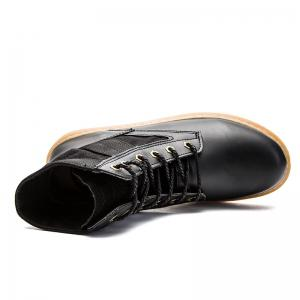 High Help Leisure Personality Pu Board Shoes - BLACK 38