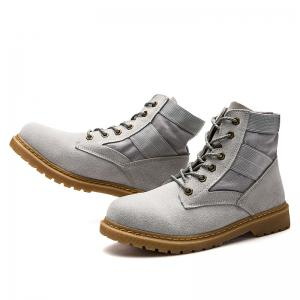 High Help Leisure Personality Pu Board Shoes - GRAY 39