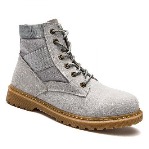Online High Help Leisure Personality Pu Board Shoes - 41 GRAY Mobile