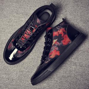 Autumn High To Help The Canvas Bright Leather Shoes -