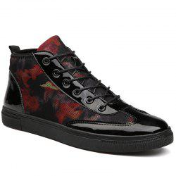 Autumn High To Help The Canvas Bright Leather Shoes - FLAME 43