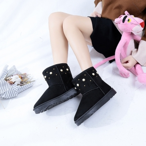 The Winter Snow Boots With Thick Velvet Flat Comfortable Warm Boots Women Shoes -